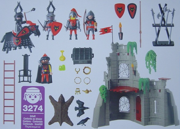 Playmobil 3274 - Wolf Clan Knights - Back