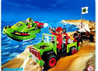 Playmobil - 3371-usa - Speedboot with Offroader