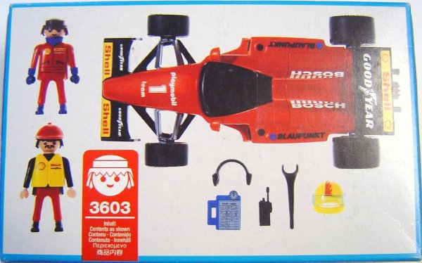 Playmobil 3603v2 - Formula 1 Racing Car - Back
