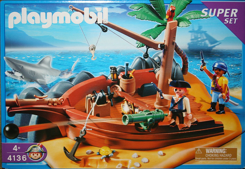 Playmobil 4136 - Superset Pirate Island - Box