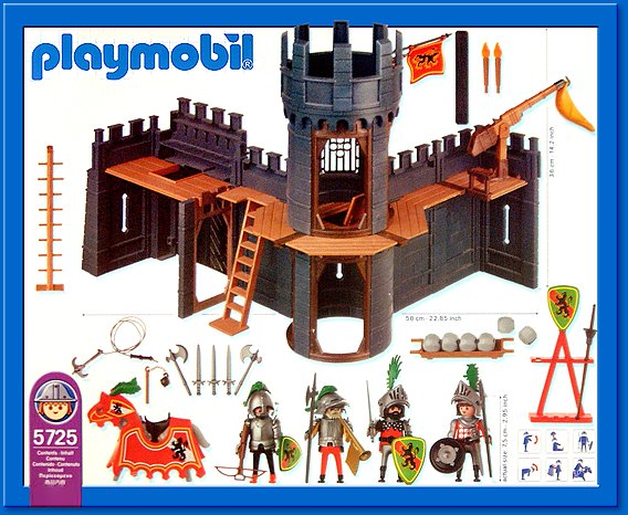 Playmobil 5725-usa - Knight's Castle - Back