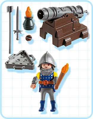 Playmobil 5758-usa - Cannon Guard - Back