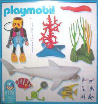 Playmobil 5770-usa - Underwater Diver with Shark - Back