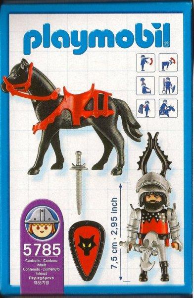 Playmobil 5785-usa - Dragon Knight On Horseback - Back