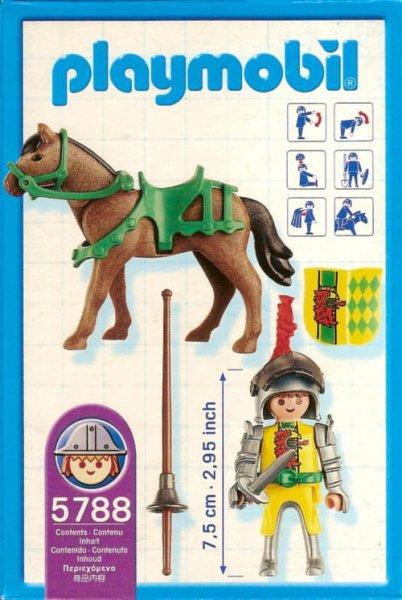 Playmobil 5788 - Eagle Knight on Horseback - Back