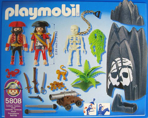 Playmobil 5808-usa - skull hideout - Back