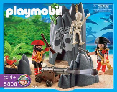 Playmobil 5808-usa - skull hideout - Box