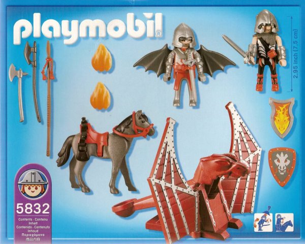 Playmobil 5832-usa - Dragon Wing Knight & Fire Catapult - Back
