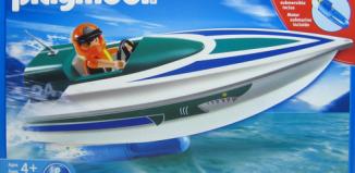 Playmobil - 5833-usa - Speedboat with underwater motor