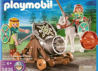 Playmobil - 5836-usa - Green Knight & Movable Cannon