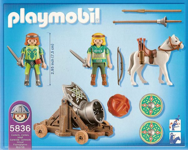 Playmobil 5836-usa - Green Knight & Movable Cannon - Back