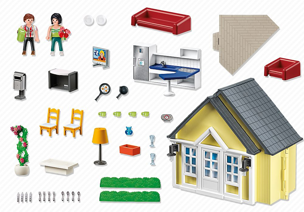 Playmobil 5951-usa - Doll House - Back