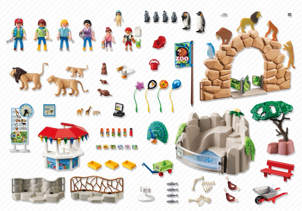 Playmobil 6634 - Large City Zoo - Back