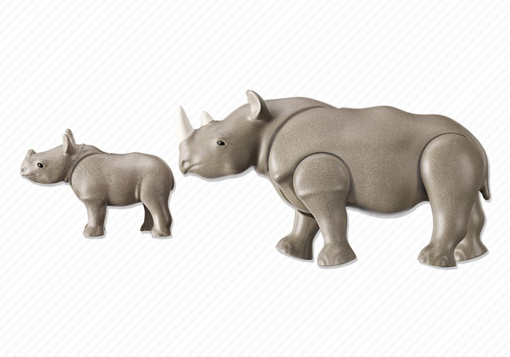 Playmobil 6638 - Rhino with baby - Back