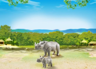 Playmobil - 6638 - Rhino with baby