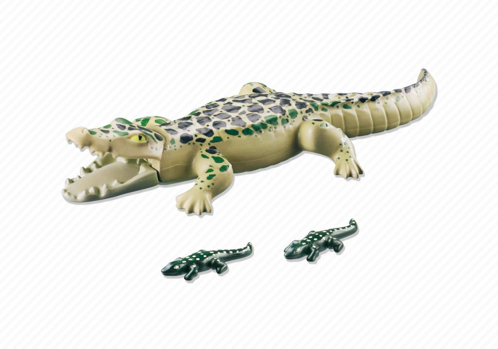 Playmobil 6644 - Alligator with Babies - Back