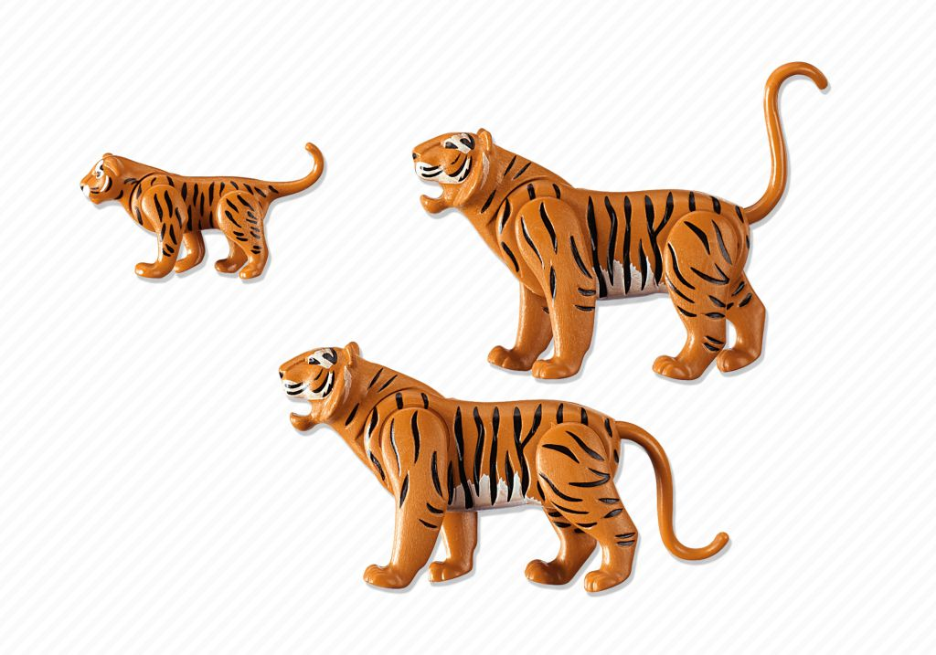Playmobil 6645 - 2 Tiger with Baby - Back