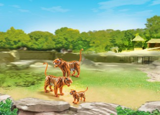 Playmobil - 6645 - 2 Tiger with Baby