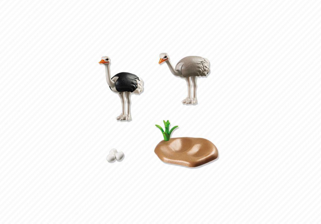 Playmobil 6646 - Ostrich Couple with Nest - Back
