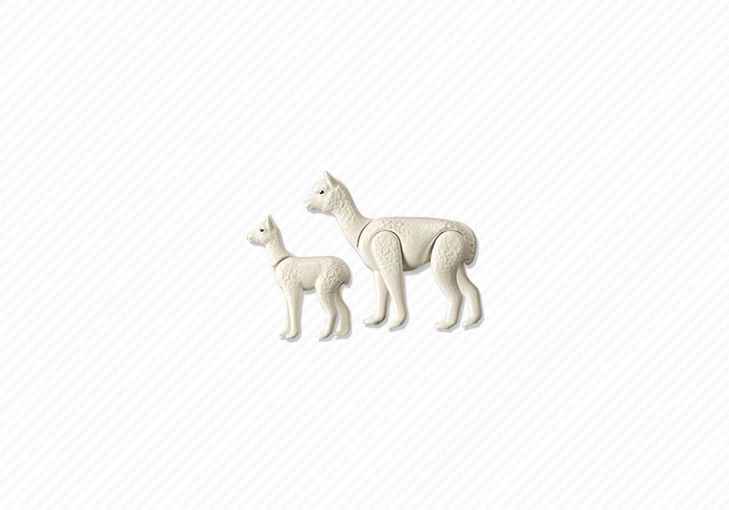 Playmobil 6647 - Alpaca with baby - Back