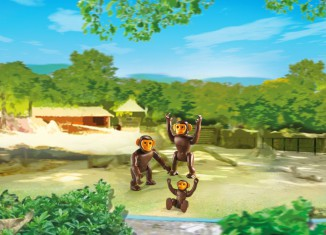 Playmobil - 6650 - 2 chimpanzees with baby