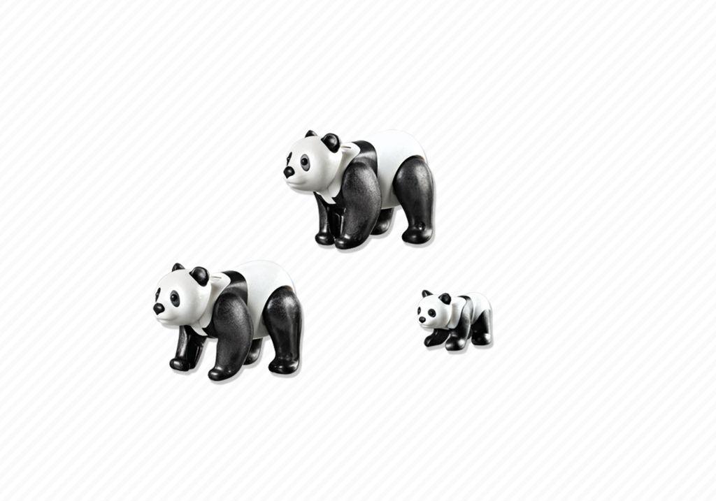 Playmobil 6652 - 2 Pandas with Baby - Back