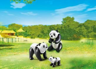 Playmobil - 6652 - 2 Pandas with Baby