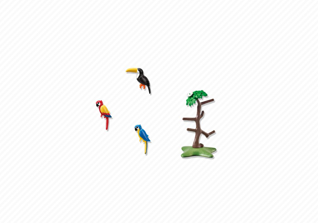 Playmobil 6653 - Parrots and toucans in the tree - Back