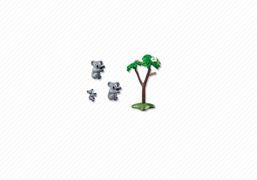 Playmobil 6654 - 2 Koalas with Baby - Back