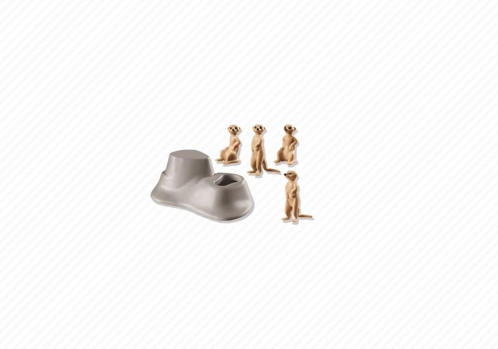 Playmobil 6655 - Meerkat Den - Back