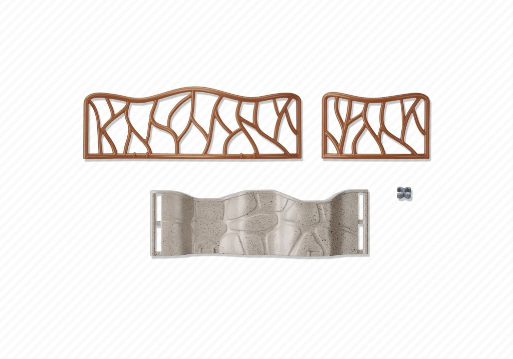 Playmobil 6656 - Zoo fences - Back