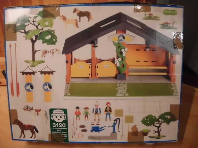 Playmobil 3120s2 - Horse & Pony Ranch - Back