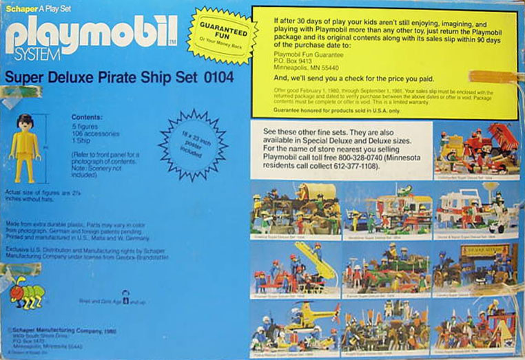 Playmobil 0104-sch - Super Deluxe Pirate Ship Set - Back