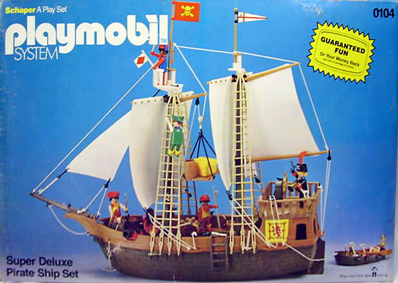 Playmobil 0104-sch - super deluxe pirate ship - Box