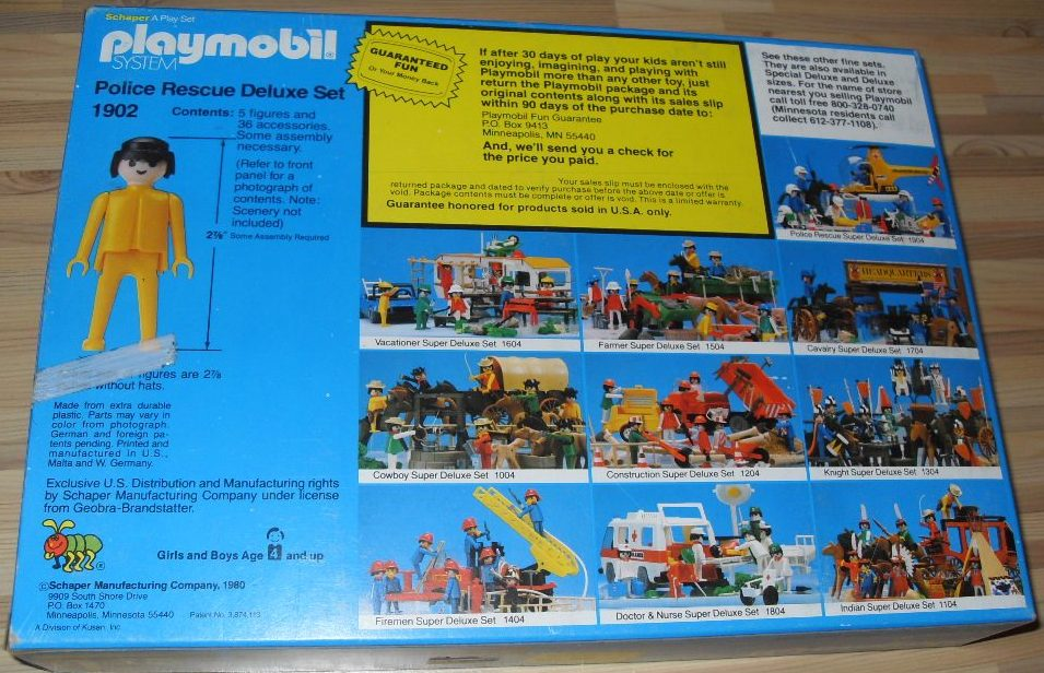 Playmobil 1902-sch - Police Rescue Deluxe Set - Back