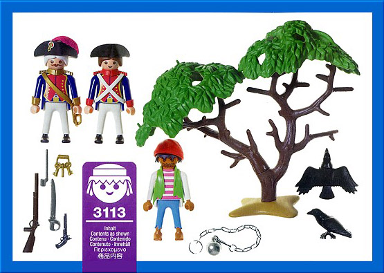 Playmobil 3113v1 - soldiers / pirate - Back