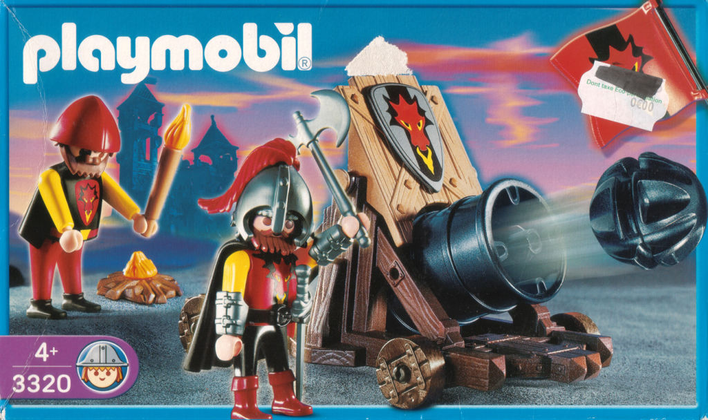 Playmobil 3320s2 - Dragon Attack Cannon - Box
