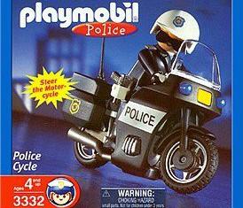 Playmobil - 3332-usa - Police Cycle - U.S.