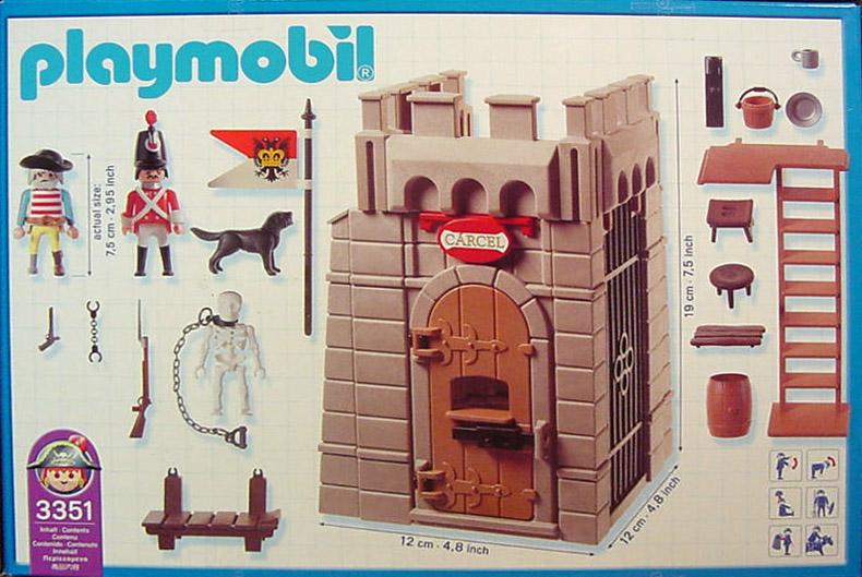 Playmobil 3351-usa - harbor prison tower - Back