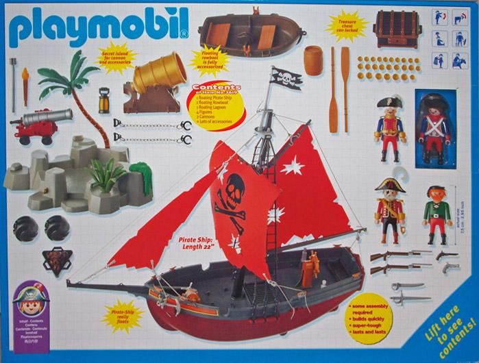 Playmobil 3619-usa - pirates starter set - Back