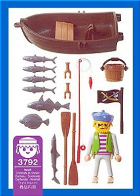Playmobil 3792 - pirate / rowboat - Back