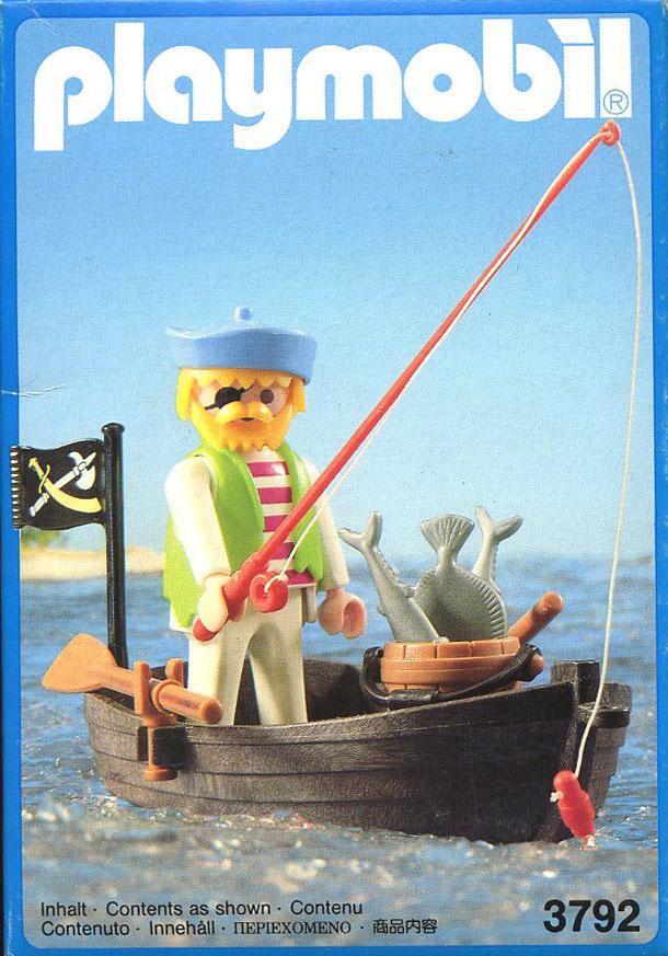 Playmobil 3792 - pirate / rowboat - Box