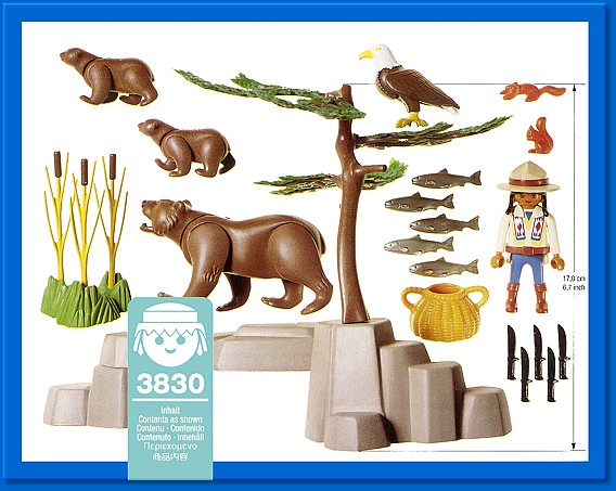 Playmobil 3830 - Kodiak Bears And Ranger - Précédent