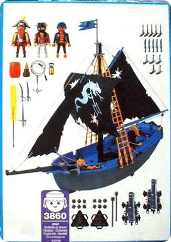 Playmobil 3860 - Black Corsair - Back