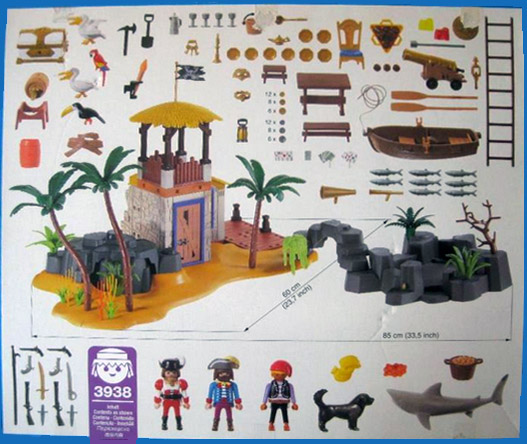 Playmobil 3938 - Pirate lagoon - Back