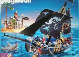 Playmobil - 4067-ger - Black corsair schooner with island