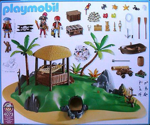 Playmobil 4073-ger - Treasure island - Back