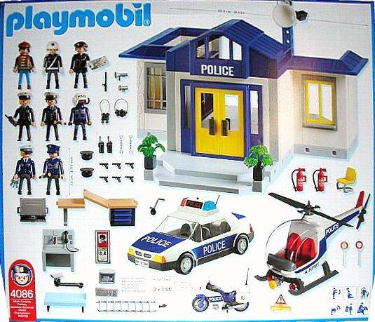 Playmobil 4086 - Police Mega-Set - Back