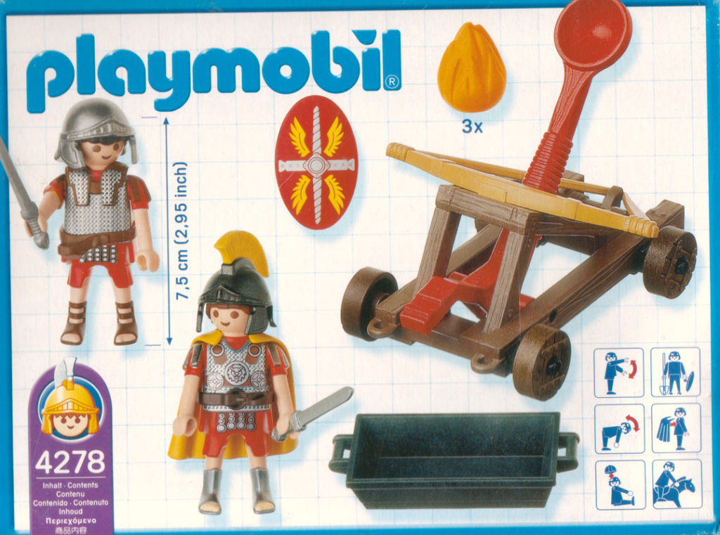 Playmobil 4278 - Firing Catapult - Back