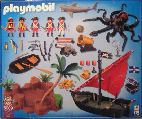 Playmobil 5009-ger - pirates battle - Back